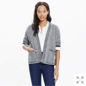 Two tone cocoon cardigan, M